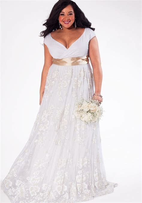 Plus size ivory wedding dresses   PlusLook.eu Collection