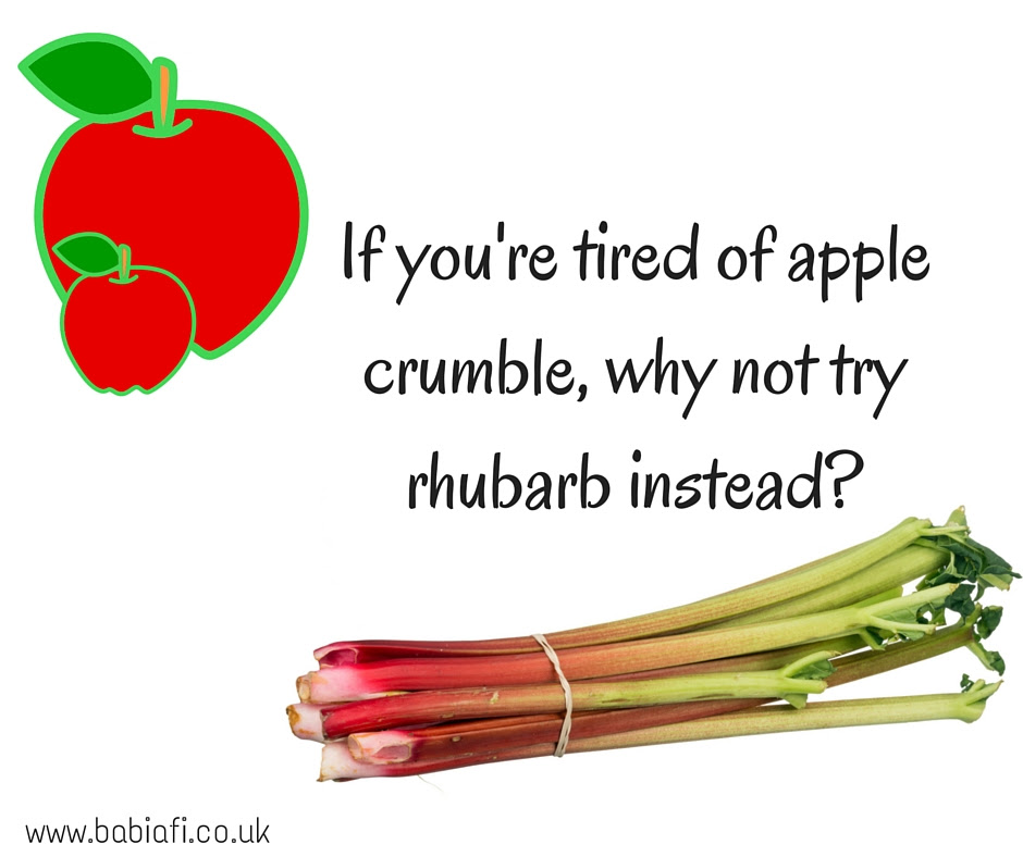 If you're tired of apple crumble, why not try rhubarb instead?