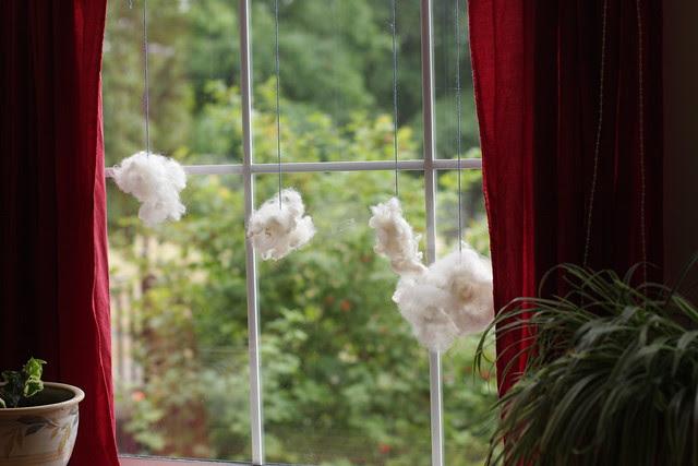 Wool clouds - Waldorf 1st grade handwork