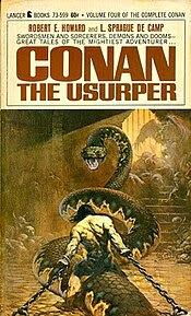Cover of Conan the Usurper (1967). Art by Frank Frazetta.