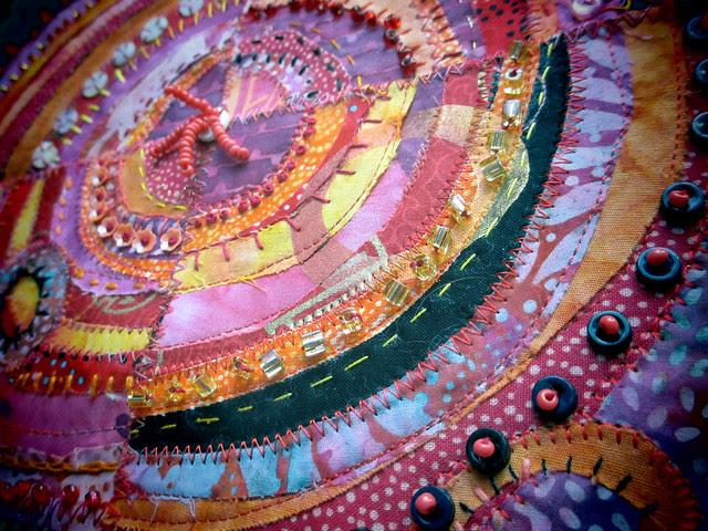 Pink & Orange recycled circles