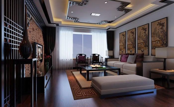 flat screen chinese feature wall modular lounge
