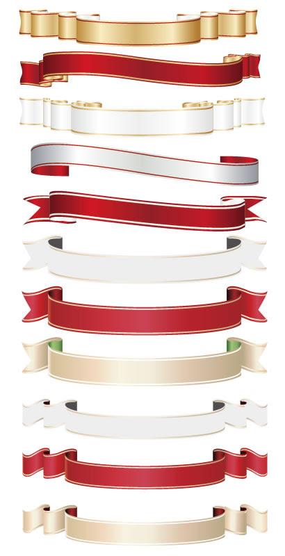 リボンフレーム 金銀赤白のイラストaieps ベクタークラブ