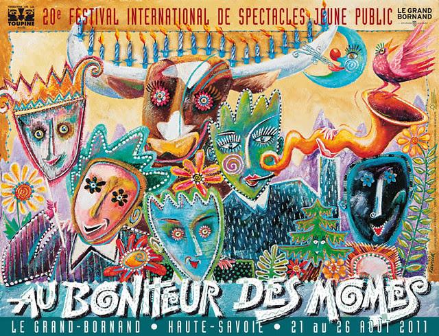 Affiche festival au bonheur des mômes