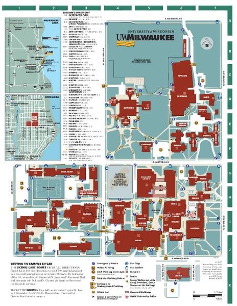 Uw Milwaukee Campus Map Uw Milwaukee Map | Bedroom 2018