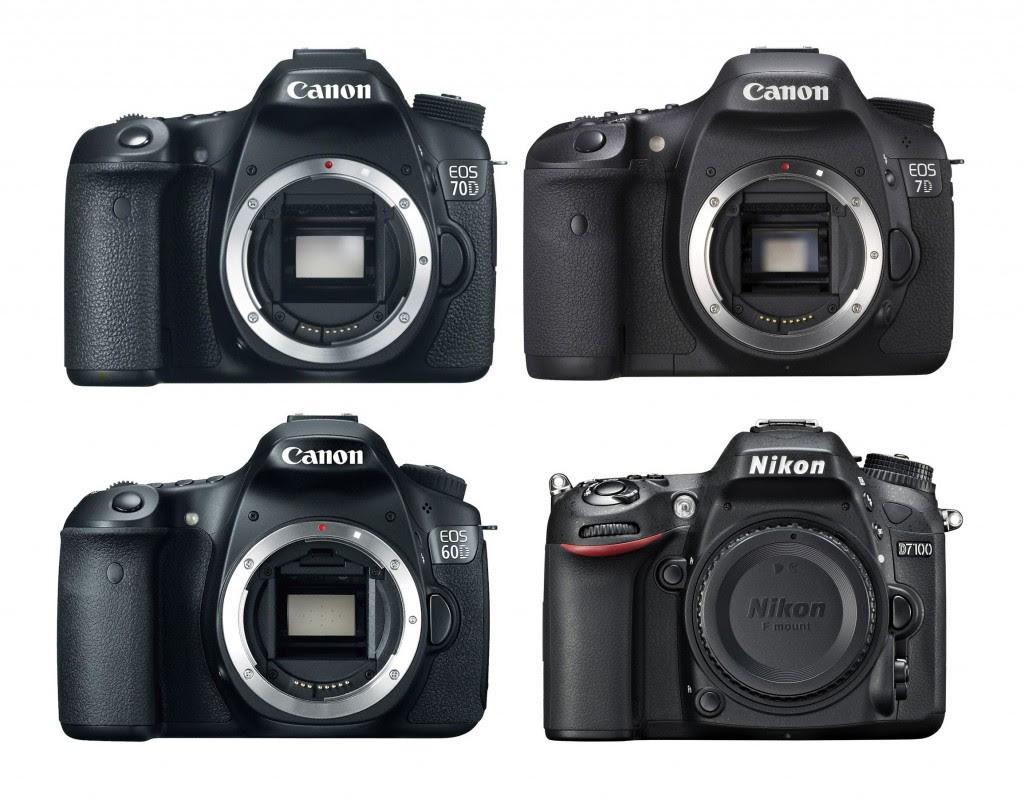 Canon EOS 70D Vs. 7D Vs. 60D Vs. Nikon D7100 Specs Comparison