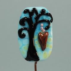 Valentine Heart Tree Series - BlueBetween Lampwork Glass Art Beads