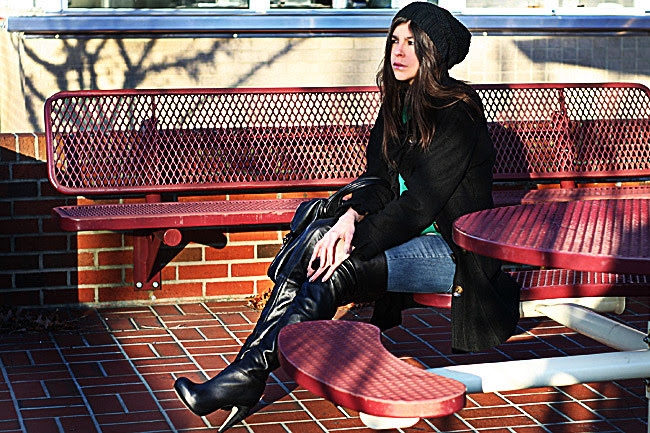 Topshop boots, over the knee boots, Fashion