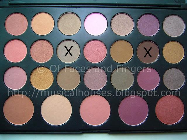 es 26 color eyeshadow blush palette neutral brown eye look