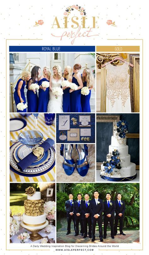 Royal Blue and Gold Wedding Inspiration Board   Mommy's