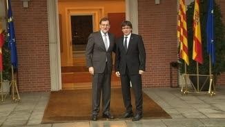 Rajoy i Puigdemont, en la trobada de la setmana passada a La Moncloa