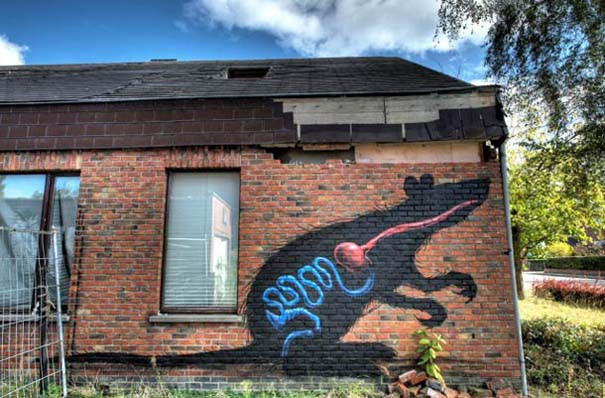Doel: Το εγκαταλελειμμένο χωριό που παραδόθηκε στην τέχνη του δρόμου (32)