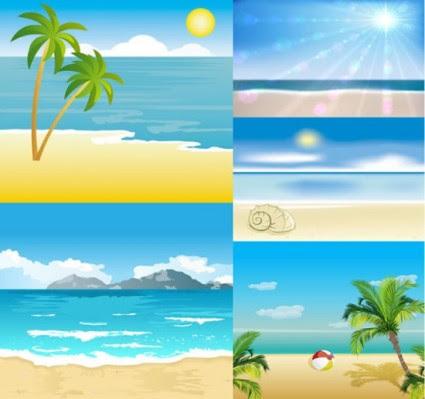 710 gambar pemandangan tepi pantai kartun HD Terbaru