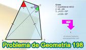 Problema de Geometría 198 (ESL): Cuadrilátero, Triangulo, Angulo, Congruencia, Líneas Auxiliares.