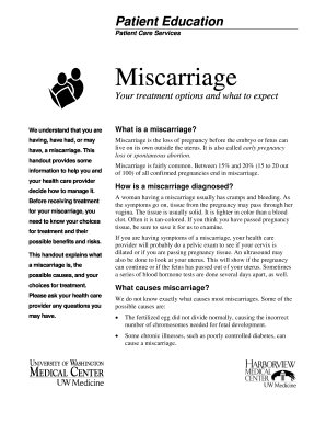 miscarriage papers form Fill Online, Printable, Fillable, Blank ...