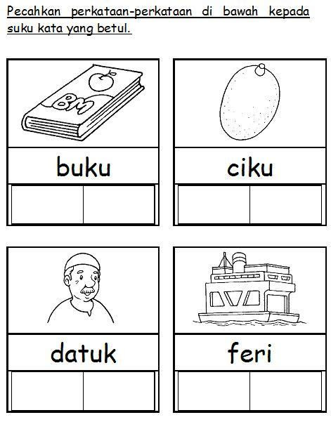 bahasa malaysia prasekolah latihan suku kata projects