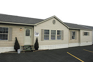 Exterior of a modern manufactured home