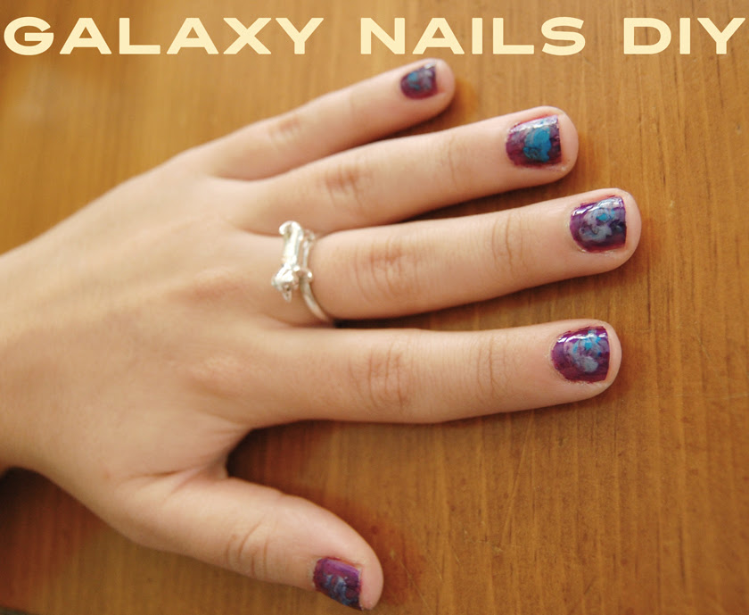Galaxy Nails DIY