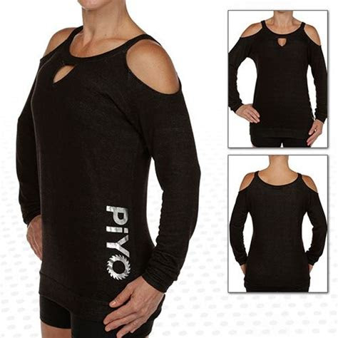 piyo steph coldshoulder sweatshirt style  pinterest