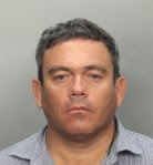 Agustín Bejarano, tras ser detenido por la policía de Hialeah