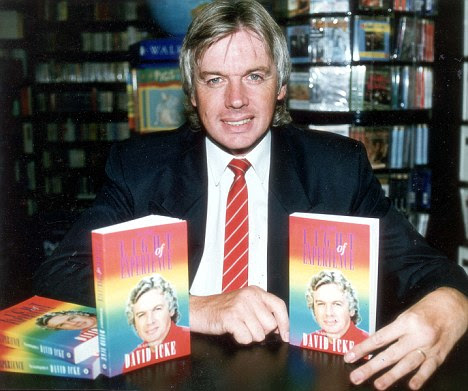 Popular: Icke has written 18 books while his website receives more than 600,000 hits a week. He also sells DVDs of his show at £35 a time
