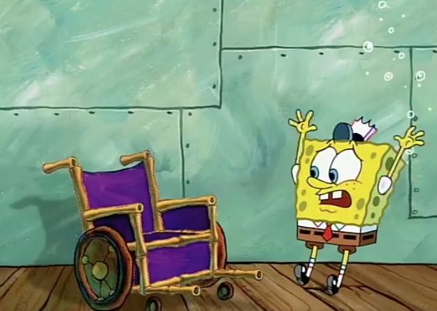 I thought this was his wheelchair.