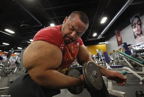 extreme bodybuilders  pushed  body