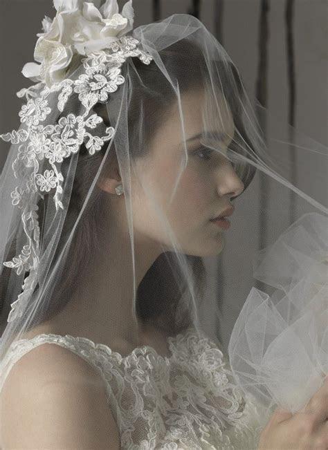 Beautiful lace veil headpiece   ?The Wedding Celebration
