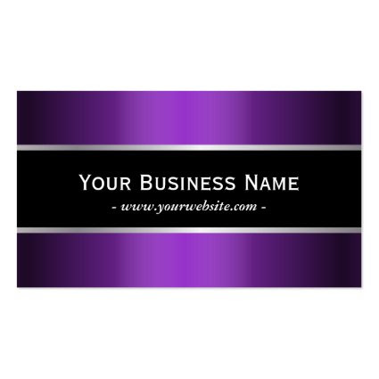 Classy Black Belt Violet Metallic Business Card