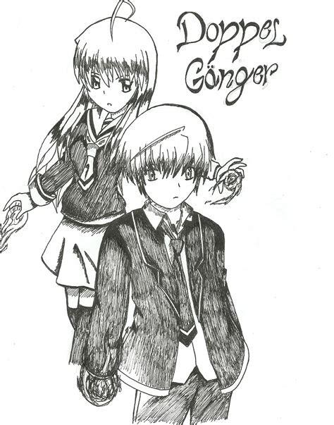 doppel ganger drawing anime photo  fanpop