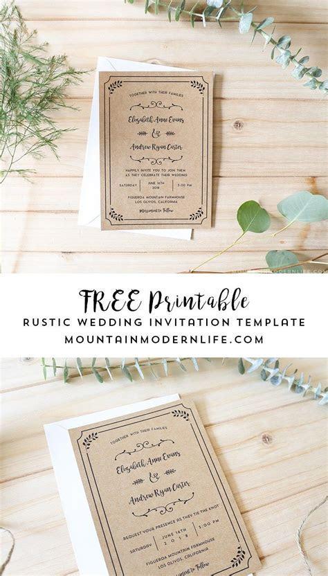FREE Printable Wedding Invitation Template     Freebies