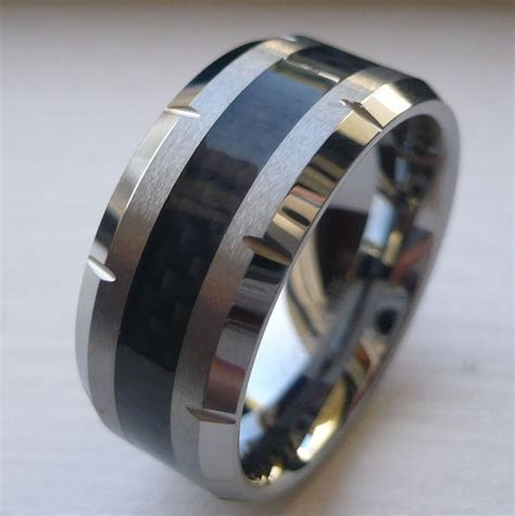 Mens 10mm Tungsten Wedding Bands   Tungsten Wedding Bands