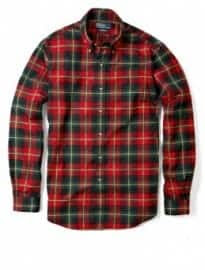 Polo Ralph Lauren Red Brushed Cotton Tartan Custom Shirt