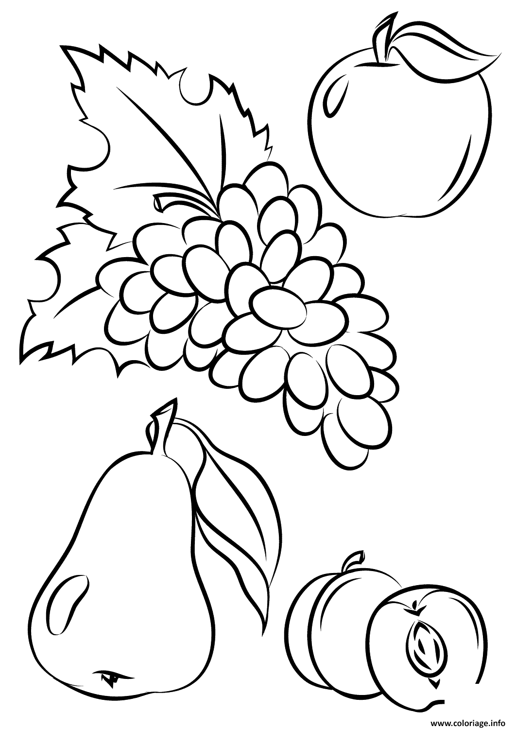 Coloriage Automne Fruits Fall Jecoloriecom