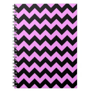 Pink and Black Zigzag Spiral Notebook