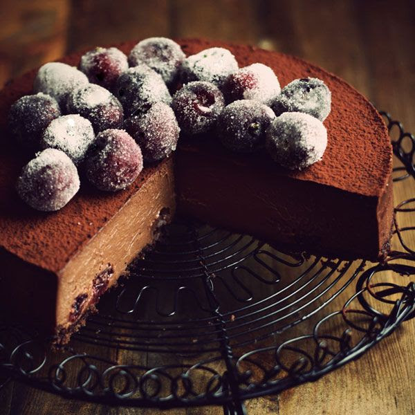 Chocolate Cherry Cheesecake recipe from Citrus and Candy....my mouth is watering! | Friday Favorites from anderson + grant