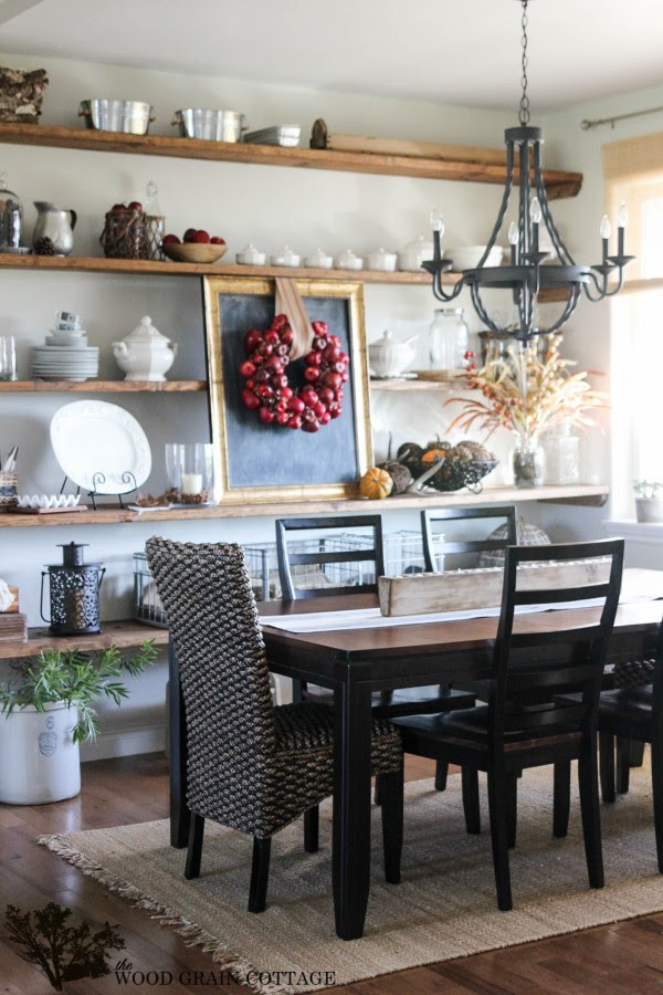 Decorate with a Fall Wreath - The Wood Grain Cottage