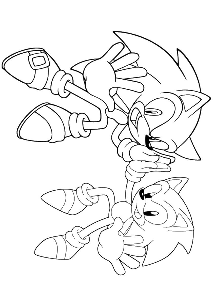 Awesome Sonic Coloring Pages Printable 261008 Metal Sketch ...