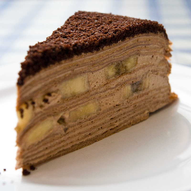 Chocolate Banana Mille Crepe