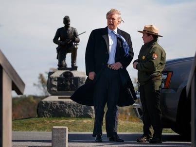Donald Trump in Gettysburg, Pa., on Oct. 22, 2016,