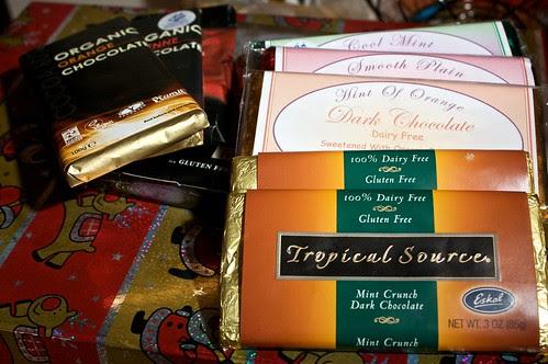 assorted chocolate goodies