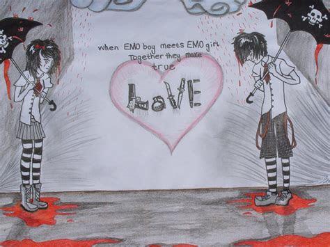 emo heart drawings broken heart boy emo love anime