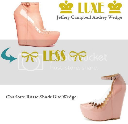 jeffery campbell wedge vs charlotte russe shark bite wedge
