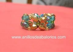 anillo con facetadas sencillo