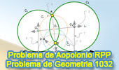 Problema de Geometría 1032 (English ESL): Problema de Apolonio RPP, Rectas, Punto, Punto