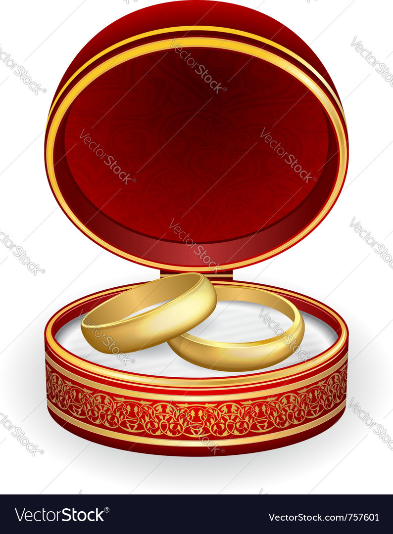 Description gold wedding rings in red box eps10 Expanded License Yes
