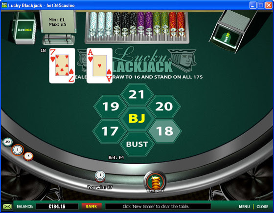 Win extra large payouts with lucky lucky blackjack event