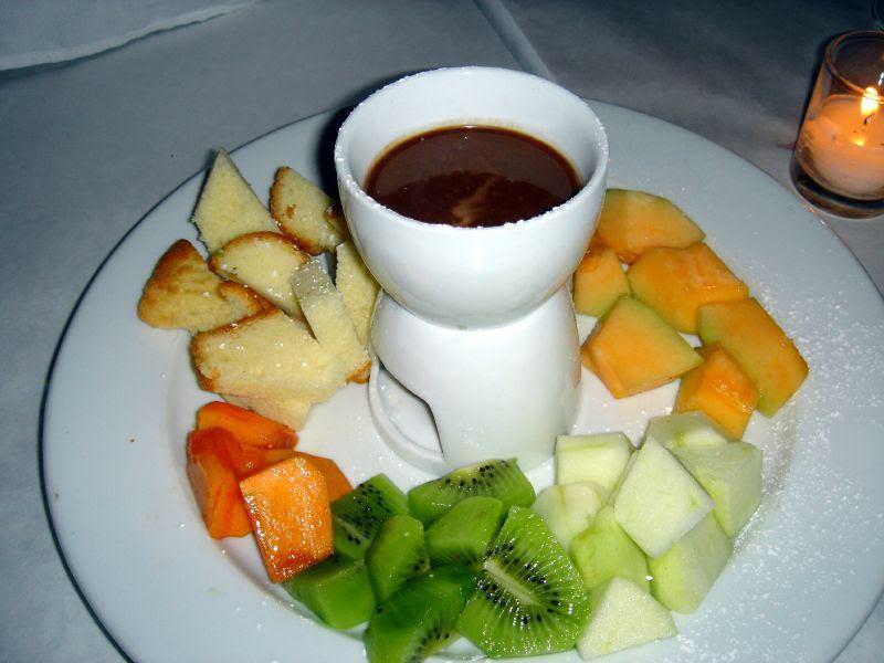 Fruit Fondue dessert