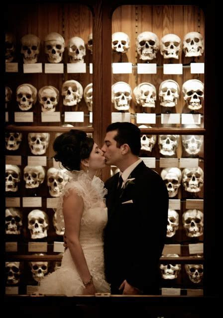 spooktacular wedding at the Mutter Museum   Wedding