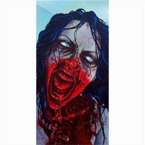 RW2 STALL SHOWER Curtain Night Life zombie fantasy by RW2Gallery